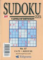 Just Sudoku 225 Magazine Issue NO 87