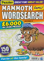 Puzz Mammoth Fam Wordsearch Magazine Issue NO 55