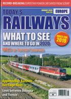 Todays Railways Europe Magazine Issue JAN 20