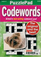 Puzzlelife Ppad Codewords Magazine Issue NO 41