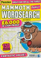 Puzz Mammoth Fam Wordsearch Magazine Issue NO 59