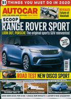 Autocar Magazine Issue 08/01/2020