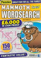 Puzz Mammoth Fam Wordsearch Magazine Issue NO 60