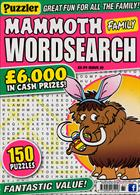 Puzz Mammoth Fam Wordsearch Magazine Issue NO 61