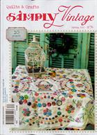 Simply Vintage Quilts Crafts Magazine Issue NO 34