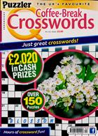 Puzzler Q Coffee Break Crossw Magazine Issue NO 92