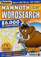Puzz Mammoth Fam Wordsearch Magazine Issue NO 65
