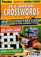 Puzzler Tea Break Crosswords Magazine Issue NO 296