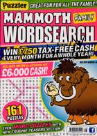 Puzz Mammoth Fam Wordsearch Magazine Issue NO 66