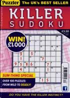 Puzzler Killer Sudoku Magazine Issue NO 174