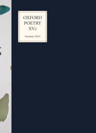 Oxford Poetry Magazine Issue XV.i
