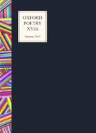 Oxford Poetry Magazine Issue XV.iii