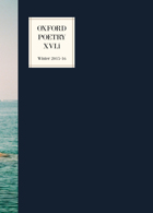Oxford Poetry Magazine Issue XVI.i