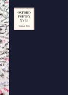 Oxford Poetry Magazine Issue