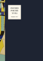 Oxford Poetry Magazine Issue XVII:i