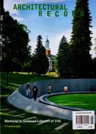 Architectural Record Magazine Issue AUG 20