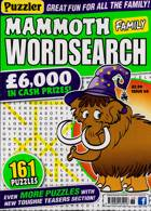 Puzz Mammoth Fam Wordsearch Magazine Issue NO 68