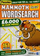Puzz Mammoth Fam Wordsearch Magazine Issue NO 69