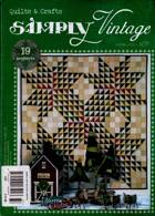 Simply Vintage Quilts Crafts Magazine Issue NO 37