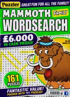 Puzz Mammoth Fam Wordsearch Magazine Issue NO 72