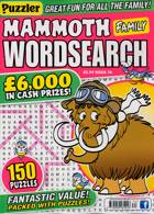 Puzz Mammoth Fam Wordsearch Magazine Issue NO 74