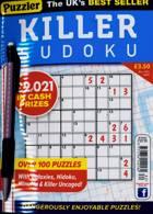 Puzzler Killer Sudoku Magazine Issue NO 182