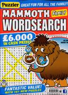 Puzz Mammoth Fam Wordsearch Magazine Issue NO 76
