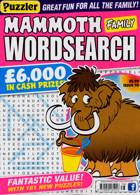 Puzz Mammoth Fam Wordsearch Magazine Issue NO 78