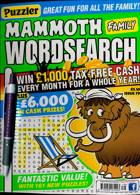 Puzz Mammoth Fam Wordsearch Magazine Issue NO 79