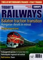 Todays Railways Europe Magazine Issue AUG 21