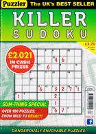 Puzzler Killer Sudoku Magazine Issue NO 187