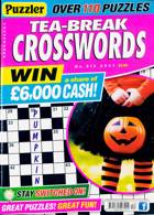 Puzzler Tea Break Crosswords Magazine Issue NO 312