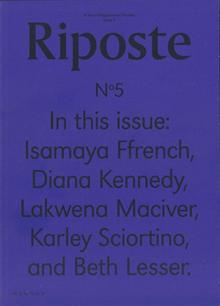 Riposte Issue 5 Magazine Issue 5 Order Online