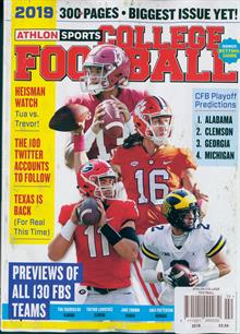 Athlon College Football  Magazine 2019 Order Online