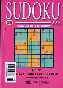 Just Sudoku 225 Magazine NO 91 Order Online