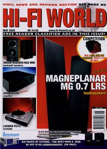 Hi Fi World & Comp Audio Magazine MAY 20 Order Online