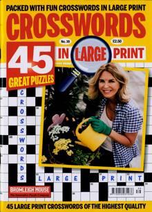 Crosswords In Large Print Magazine NO 39 Order Online
