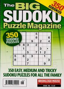 Big Sudoku Puzzle Magazine Magazine Issue NO 106
