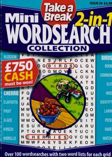 Tab Mini 2 In 1 Wordsearch Magazine Issue NO 26