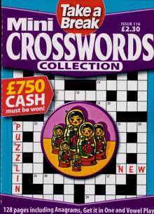 Tab Mini Crossword Coll Magazine Issue NO 116