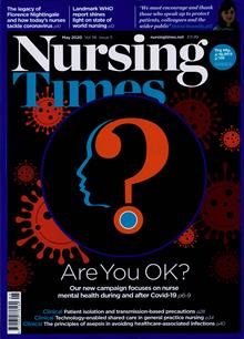 Nursing Times Magazine MAY 20 Order Online