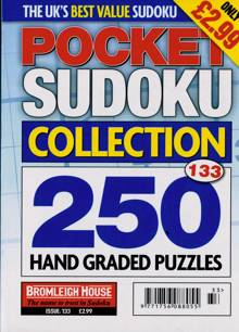 Pocket Sudoku Collection Magazine NO 133 Order Online