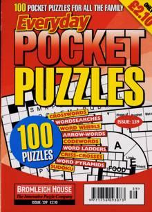 Everyday Pocket Puzzle Magazine Issue NO 139