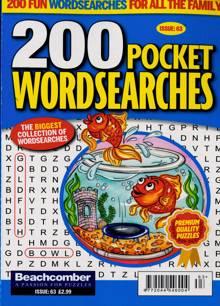 200 Pocket Wordsearches Magazine NO 63 Order Online