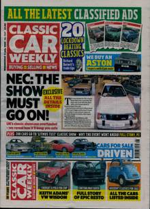 Classic Car Weekly Magazine 08/07/2020 Order Online