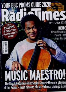 Radio Times South Magazine 11/07/2020 Order Online