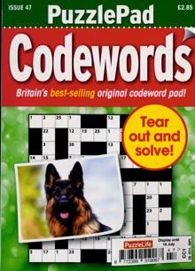 Puzzlelife Ppad Codewords Magazine NO 47 Order Online