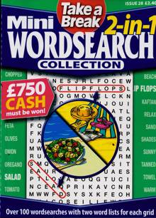 Tab Mini 2 In 1 Wordsearch Magazine Issue NO 28