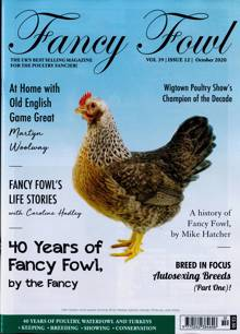Fancy Fowl Magazine OCT 20 Order Online