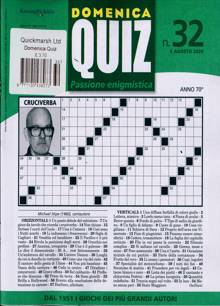 Domenica Quiz Magazine NO 32 Order Online